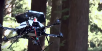 Terabee Sensors Modules Drone flies in the forest with collision avoidance