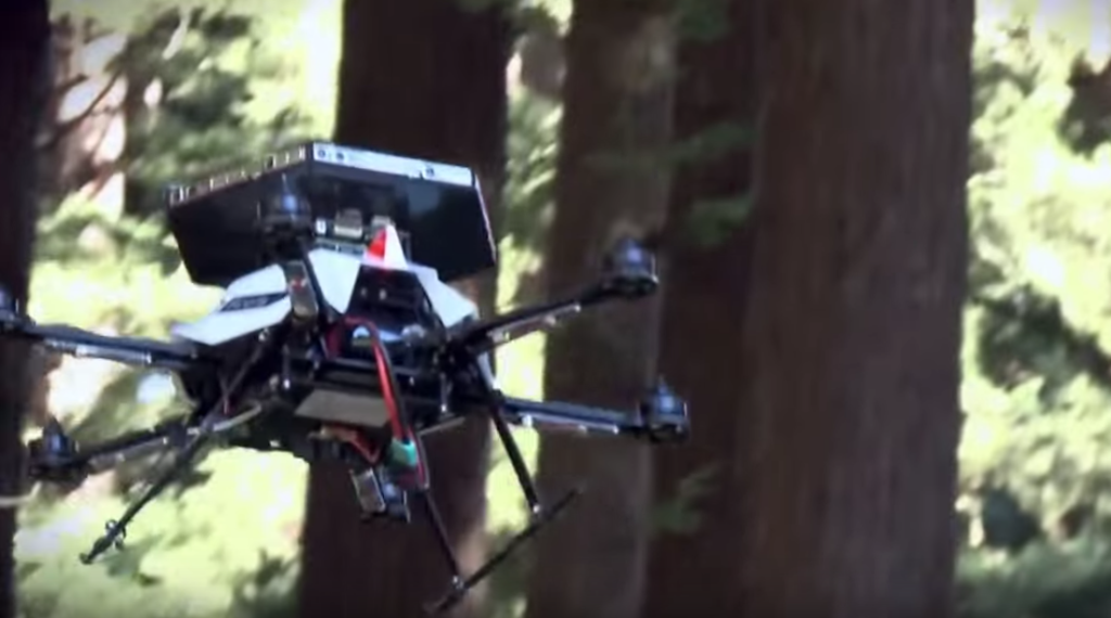 Terabee Blog Drone flies in the forest with collision avoidance