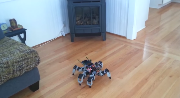 Terabee Blog Hexapod spider robot performs anti-collision and SLAM with TeraRanger distance sensors