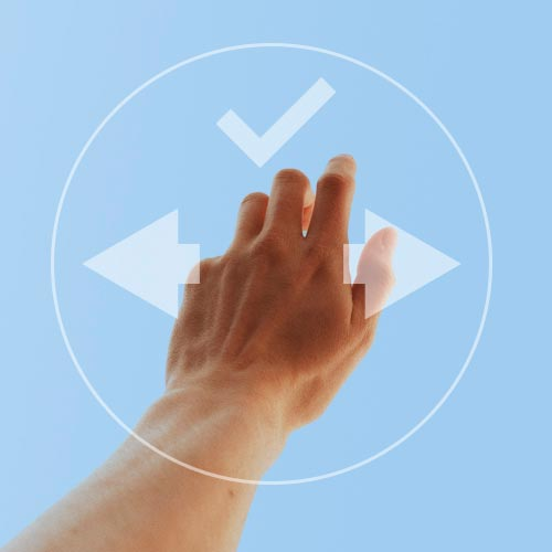 Evo Swipe Plus Gesture Recognition